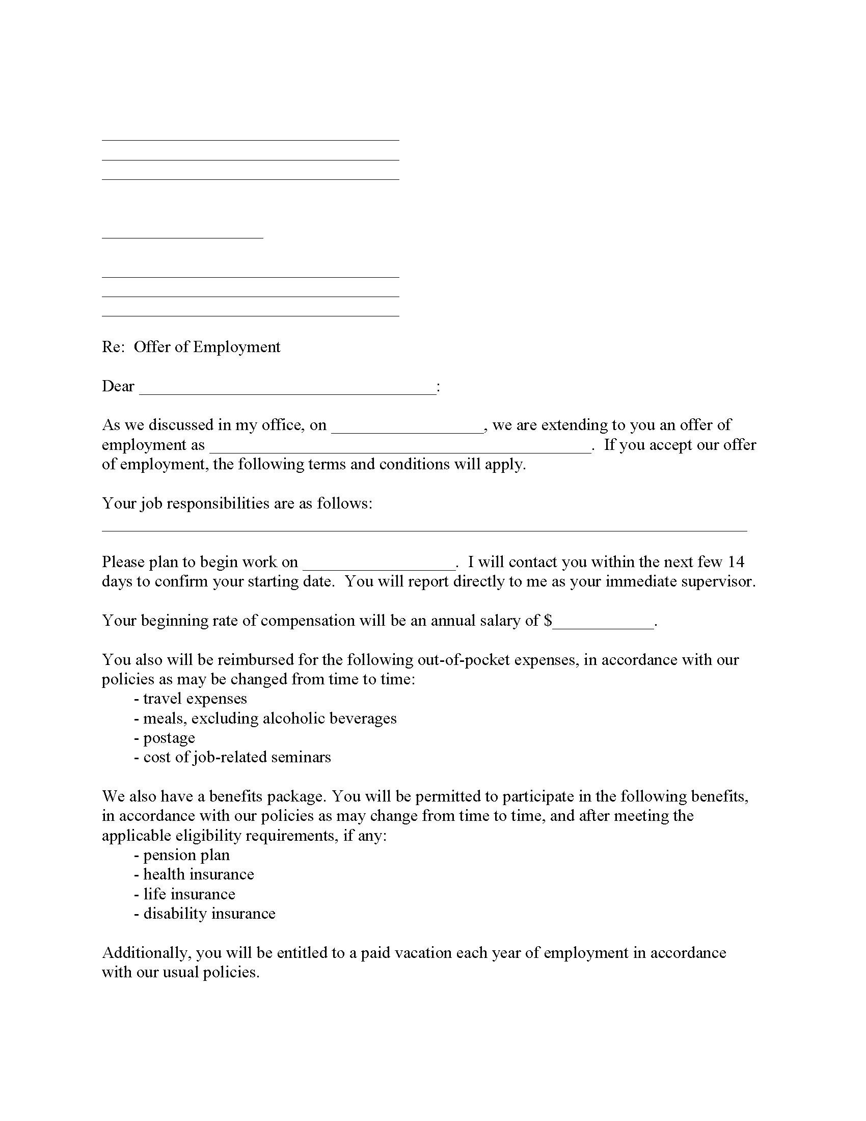 Employment Confirmation Form