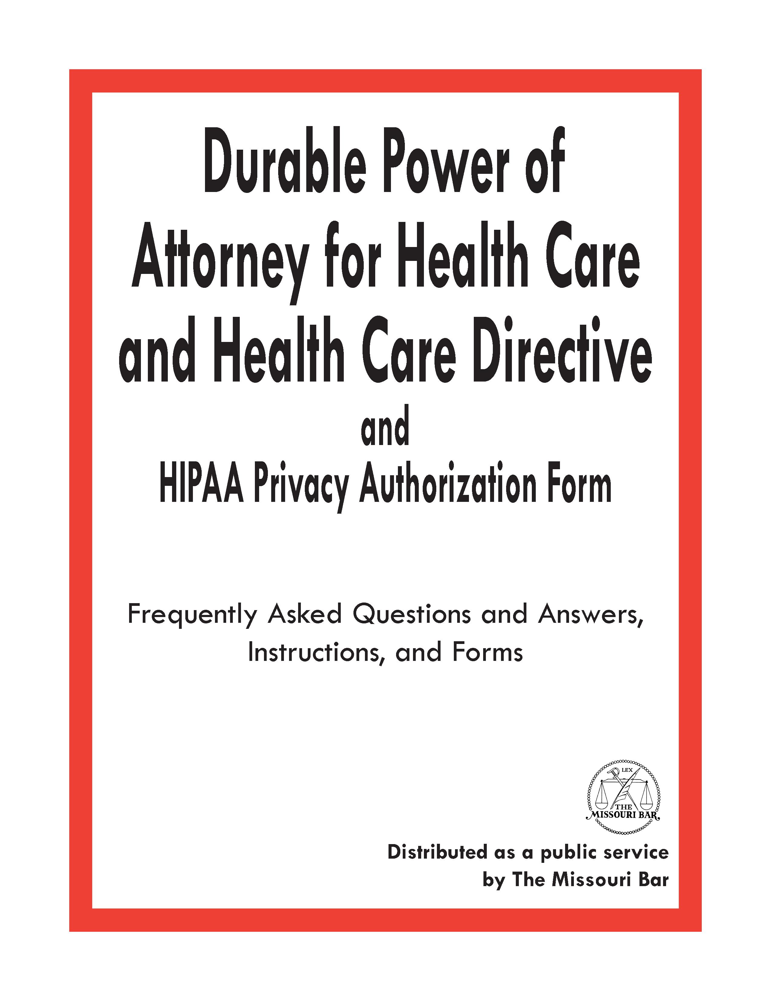 Missouri Advance Directive For Health Care