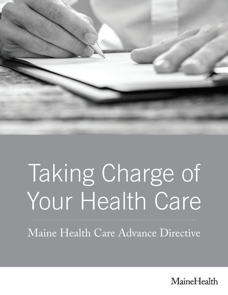 Maine Advance Directive For Health Care Form