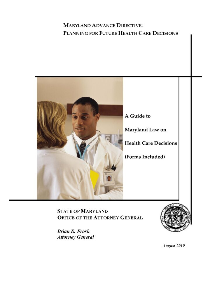 Maryland Advance Directive For Health Care Form